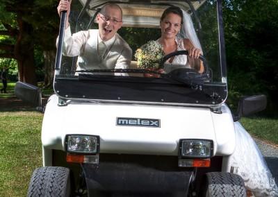 Svatba -fotečky v elektromobilu